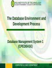 Module 1 - The Database Environment and Development Process