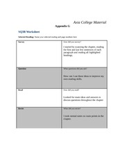 appendix h sq3r worksheet Appendix h: a worksheet for qualifying your lead please sign in to view the rest of this entry appendix h: a worksheet for qualifying your lead, chapter.
