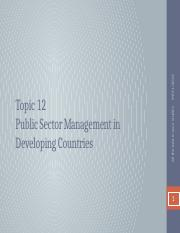 Topic 12- Public Sector Management in Developing Countries.pptx