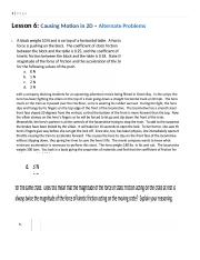 PHYS 103 Assignment 6 Alternate Problems - Causing Motion in 2-D Questions.docx