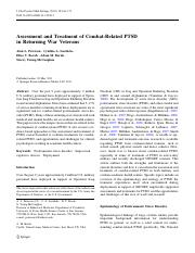assessment combat related ptsd