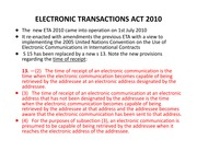 ELECTRONIC TRANSACTIONS ACT 2010
