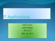 IT Applications