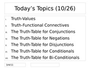 Truth-Tables