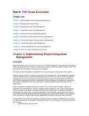 Chapter 4 - Implementing Project Integration Management.doc