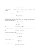 Calculus 1 homework 6 solutions