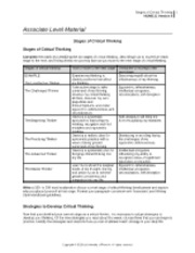 hum 111 stages of critical thinking Stages of critical thinking how to move to the next stage obstacles to moving to the next stage example: the unreflective thinker examine my thinking to identify problems that affect my thinking deceiving myself about the effectiveness of my thinking the challenged thinker recognize the problems that i have in my thinking.