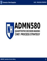 ADMN580 CH07 PROCESS STRATEGY.ppt