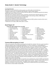 Study Guide 9 Genetic Technology