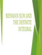 RIEMANN SUM AND THE DEFINITE INTEGRAL.pptx