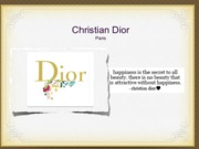 christian dior ppt