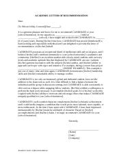1 pages letter of recommendation academicdoc