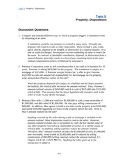 Topic-9 Property Dispositions
