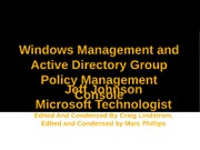 07-GPMC and Windows Infrastructure