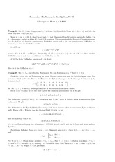 Exercise Sheet 5 Solution