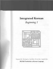 integrated korean beginning level 1. textbook