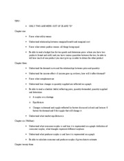 exam one study guide and tips