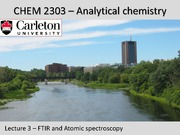 CHEM 2303 - Lecture 3 - Jan 30 2015 - Atomic spectroscopy-Post Lecture