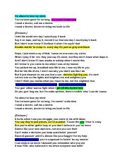 Lyrics to I need a Doctor.pdf