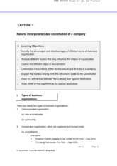 ACC3413_01 lecture-Nature, incorporation and constitution of a company (2011-12)1