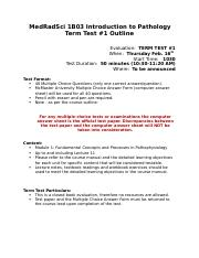 1B03 - Term Test #1 Outline - 2017
