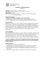 Staffing Syllabus - Spring 2014 Revised 1-29