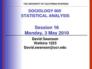 UCR SOC 005 STAT SPR 2010 Session 16 V2