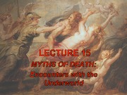 Lecture 15 - Hades and the Underworld