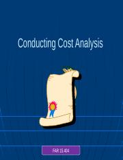 6 Cost Analysis
