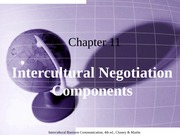 Chapter 11 Intercultural Negotiation Strategies