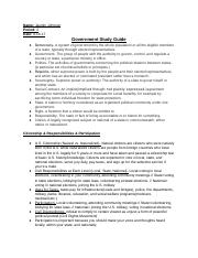 Unit 1- Government Study Guide.docx