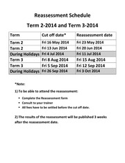 Reasessment Schedule (1)