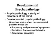 F09 developmental psychopathology