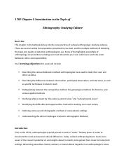 17SP Chapter 5 Introduction to the Topic of Ethnography.docx