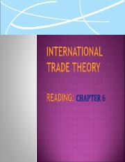 Lecture 2  International Trade Theory
