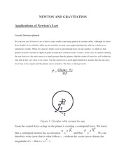 NEWTON AND GRAVITATION (Applications of Newton's Law)