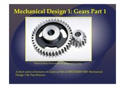MECH2400 5400 Mechanical Design Gears Part 1 06102014-2