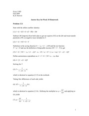 ECON 110 Fall 2009 Assignment 10 Solutions