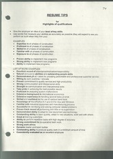 Resume tips for highlights of qualifications