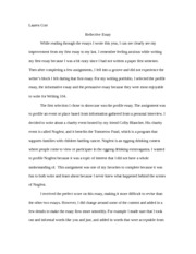 writing Reflective essay paper