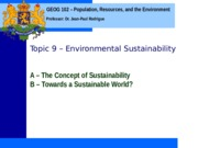 Geog 102 Topic 9
