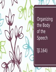 5-Organizing the Body of the Speech (1).pptx