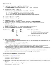 Ch. 20) Oxidation-Reduction