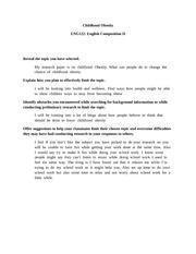 ashford university eng 122 english composition ii childhood obesity Eng 122 week 2 assignment final research paper outline | eng  the ashford university library is  eng 122 entire course english composition ii  eng 122 week 1.