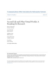 Case Study 6 - Second Life and Other Virtual Worlds A Roadmap for Research