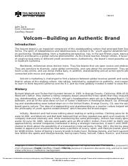 Case Study 1 - Volcom Building an Authentic Brand