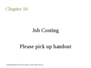 Chapter 16 -  Job Costing-students-Wednesday