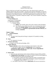 Biological Science Midterm Study Guide
