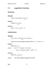 Calculus II Notes 7.4