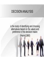 Group 2 - Decision Analysis